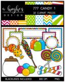 777 Candy Clipart Bundle 1 {A Hughes Design}