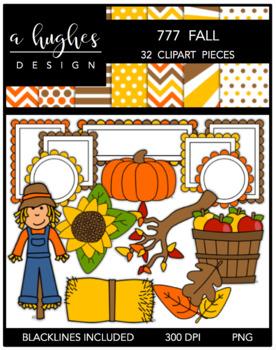 777 Fall Clipart Bundle {A Hughes Design}