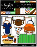 777 Football Clipart Bundle 1 {A Hughes Design}