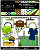 777 Football Clipart Bundle 2 {A Hughes Design}
