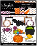 777 Halloween Clipart Bundle {A Hughes Design}