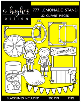 777 Lemonade Clipart Bundle {A Hughes Design}