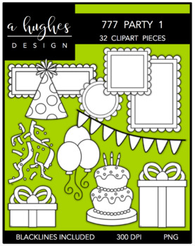 777 Party Clipart Bundle 1 {A Hughes Design}
