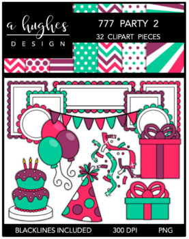 777 Party Clipart Bundle 2 {A Hughes Design}