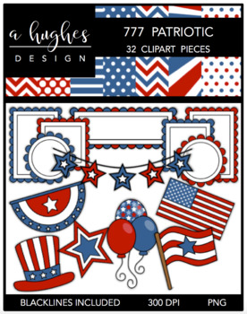 777 Patriotic Bundle {Graphics for Commercial Use}