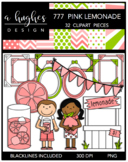 777 Pink Lemonade Clipart Bundle {A Hughes Design}