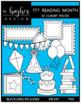 777 Reading Month Clipart Bundle {A Hughes Design}
