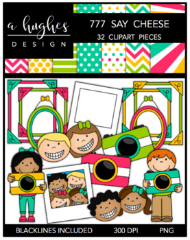 777 Say Cheese! Clipart Bundle {A Hughes Design}