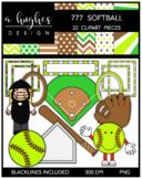 777 Softball Clipart Bundle {A Hughes Design}