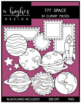 777 Space Clipart Bundle {A Hughes Design}