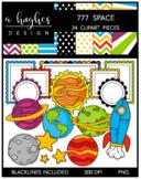 777 Space Clipart Bundle [Ashley Hughes Design]