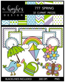 777 Spring Clipart Bundle {A Hughes Design}