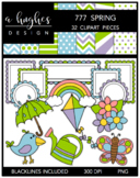777 Spring Clipart Bundle {A Hughes Design}