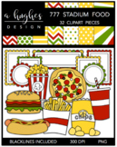 777 Stadium Food Clipart Bundle {A Hughes Design}