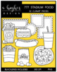 777 Stadium Food Clipart Bundle {A Hughes Design}