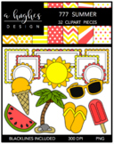 777 Summer Clipart Bundle {A Hughes Design}
