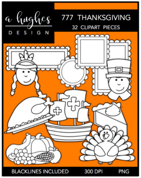 777 Thanksgiving Clipart Bundle {A Hughes Design}