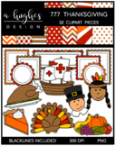 777 Thanksgiving Clipart Bundle {A Hughes Design}