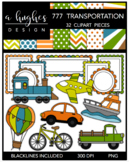 777 Transportation Clipart Bundle {A Hughes Design}