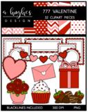 777 Valentine Clipart Bundle {A Hughes Design}