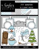 777 Winter Clipart Bundle {A Hughes Design}