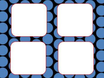 78 Slides of Colorful Polka Dot Backgrounds, Labels, Tags, and Nameplates