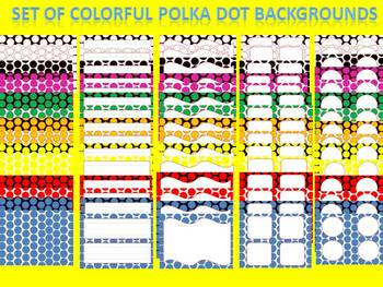 78 Slides of Colorful Polka Dot Backgrounds, Labels, Tags,
