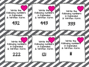 78 Valentine's Written & Expanded Task Cards