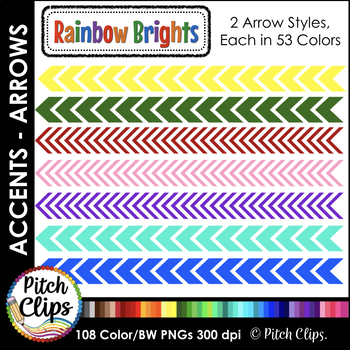 79 Digital Arrows - Clipart (Clip Art) - Thin and Thick Accent Arrows