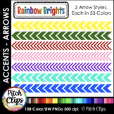 Colored Digital Arrows - Clipart (Clip Art) - Thin and Thi