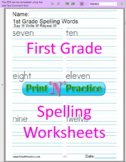 79 First Grade Spelling Worksheets PDF: Paperless Or Print