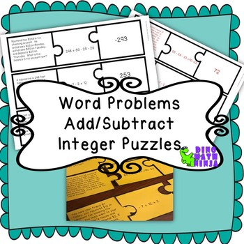 7.NS.1 7.NS.3 Integer Math Puzzle - Add/Subtract word problems