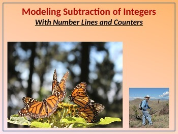 7.NS.1 Modeling Subtraction of Integers (BUNDLE) w/Number Lines and Counters
