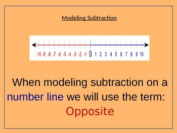 7.NS.1 Modeling Subtraction of Integers w/Number Lines and Counters