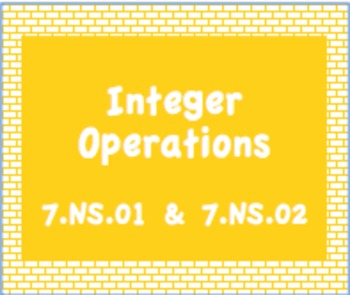 7.NS.1 and 7.NS.2 Integer Operations Practice
