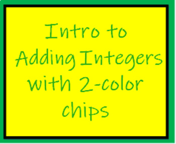 7.NS.1d Adding Integers with Models, 2 color chips