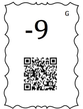 7.NS.1d and 7.NS.2c Operations with Integers Scavengers Hunt with QR Codes