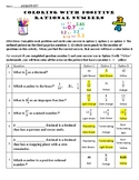 7NSA Positive Rational Numbers Coloring Sheet
