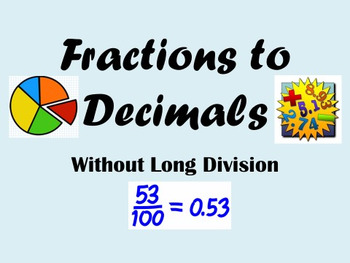 7NSA2D Fractions, Decimals, Percents without Long Division