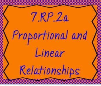 7.RP.2a Proportional and Linear Relationships