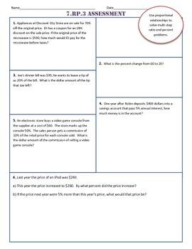 7.RP.3 Test/Assessment