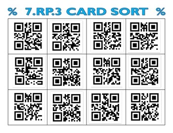 7RP3 Card Sort with additional QR Sort