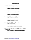7.RP.3 Percent Word Problems (3 sheets)