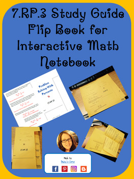 7.RP.3 Study Guide for Interactive Math Notebook. Problem Solving with Percents