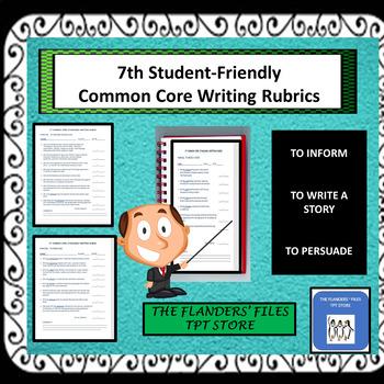 7TH GRADE COMMON CORE STANDARDS WRITING RUBRICS