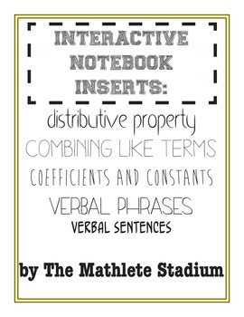 7TH GRADE MATH INTERACTIVE NOTEBOOK: distributive property, and more!