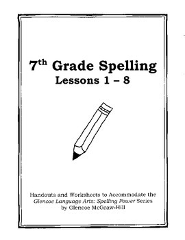 Middle School Spelling for the Busy Teacher - 7th Grade CCSS Focused (Unit 1)