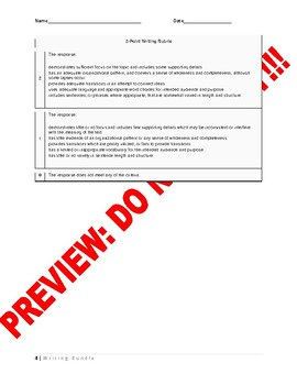 7th/8th Grade CCSS Constructed Response Writing Assessment Bundle
