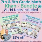 7th & 8th Grade Khan Bundles (149 total lessons)