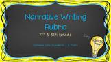 7th & 8th Grade Narrative Writing Rubric with Common Core
